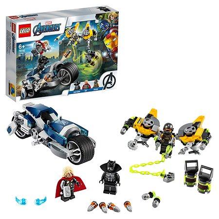 Конструктор LEGO Super Heroes Мстители Атака на спортбайке 76142