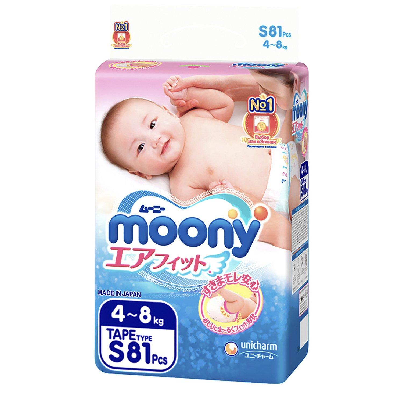 662c14995b8 Подгузники Moony S 4-8кг 81шт - купить в интернет магазине Детский ...