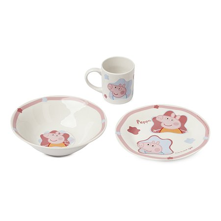 Набор посуды ND PLAY Свинка Пеппа керамический в подарочной упаковке