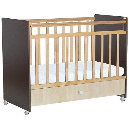 Кроватка Фея 700 венге-клён