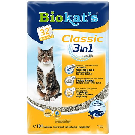 Наполнитель для кошек Biokats Классик 3в1 10л