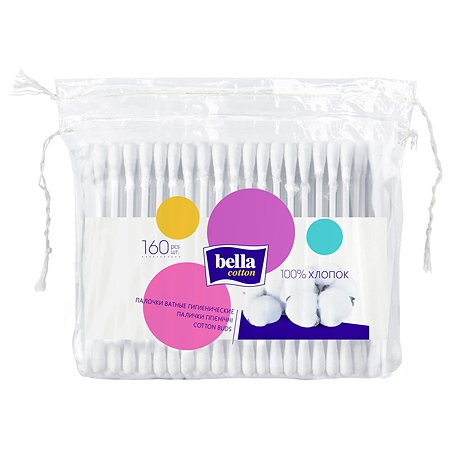 Палочки ватные Bella Cotton 160шт