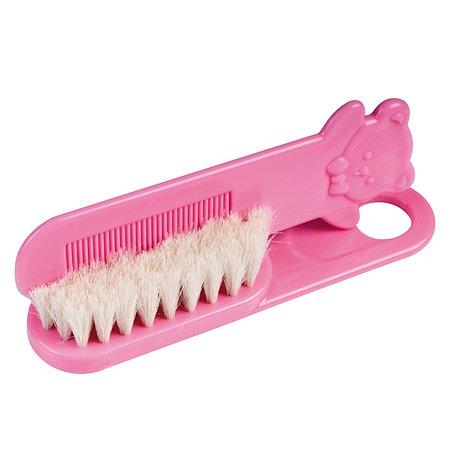 Щетка для волос Canpol Babies натуральная Розовая 2/424