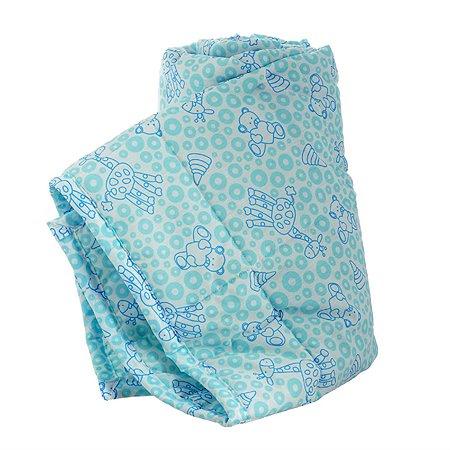 Одеяло стеганое Baby Nice 105х140 (файбер) голубое