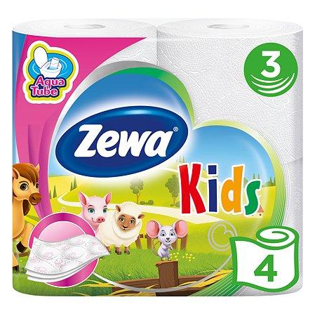 Туалетная бумага Zewa Kids 3слоя 4рулона 5622