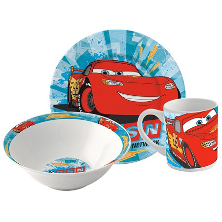 Набор посуды ND PLAY Тачки керамический в подарочной упаковке