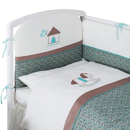 Комплект постельного белья Perina Жила-была Лошадка 4предмета Молочный с рисунком