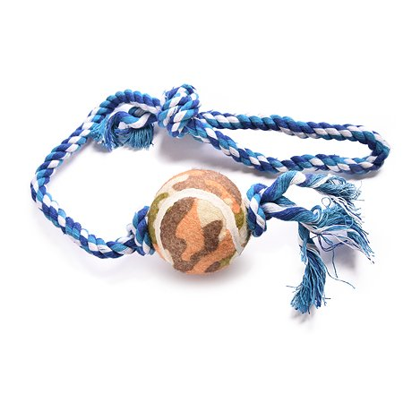 Игрушка для собак FAUNA Мяч на веревке на подвесе FIRT-0003