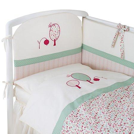 Комплект постельного белья Perina Клюковка 4предмета Молочный с рисунком