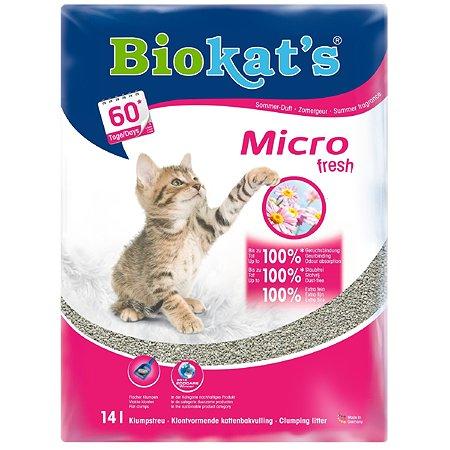 Наполнитель для кошек Biokats Микро свежий 14л