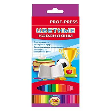 Карандаши цветные Prof Press Школьный мир К-7427