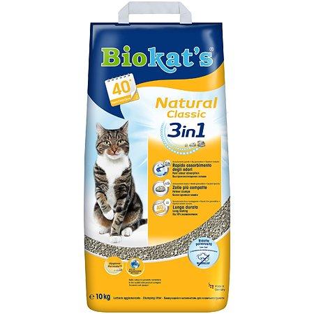 Наполнитель для кошек Biokats Натурал 3в1 10кг