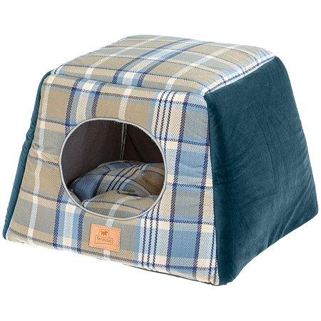Домик для кошек Ferplast Edinburgh трансформер с двухсторонней подушкой Синий