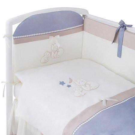Комплект постельного белья Perina Котята 4 предмета Лазурь