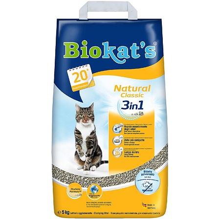 Наполнитель для кошек Biokats Натурал 3в1 5кг