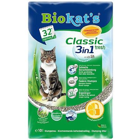 Наполнитель для кошек Biokats Фреш 3в1 свежий 10л