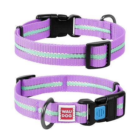 Ошейник для собак Waudog Nylon светящийся большой Фиолетовый