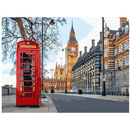 Холст для рисования по номерам Рыжий кот Поездка в Лондон Х-6473
