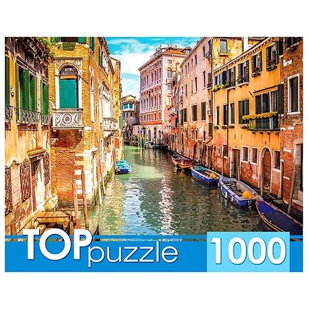 Пазлы 1000 элементов Рыжий кот TOPpuzzle Италия Венецианская улочка ГИТП1000-2155