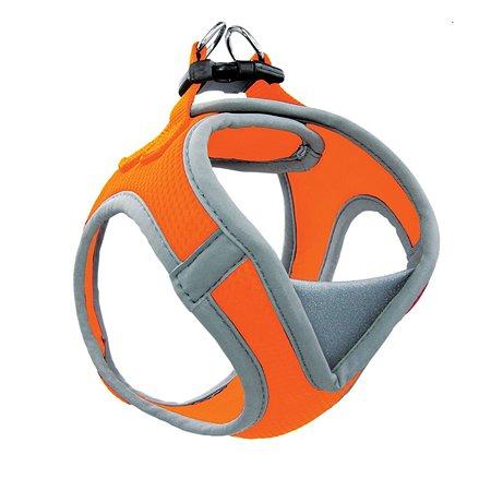 Шлейка-жилетка для собак Triol мягкая S Оранжевый