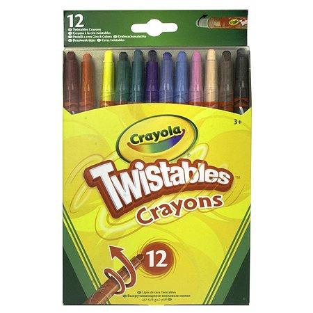 Восковые мелки Crayola выкручивающиеся 12 штук