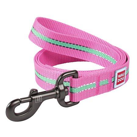 Поводок для собак Waudog Nylon светящийся малый Розовый