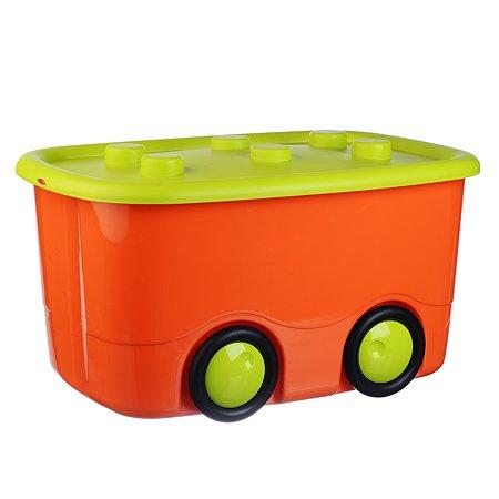 Ящик для игрушек Babyton Моби М 47л Оранжевый 2598-Б