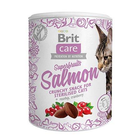 Лакомство для кошек Brit Care Super Fruits стерилизованных Лосось 100г