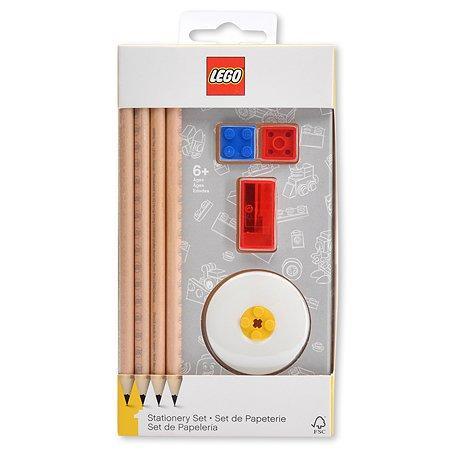 Карандаши чернографитные LEGO 4шт+ластик точилка 52052