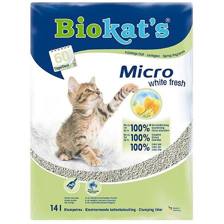 Наполнитель для кошек Biokats Микро Уайт Фреш 14л