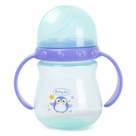 Поильник Baby Go с носиком съемные ручки 240мл Purple-Blue Z-011