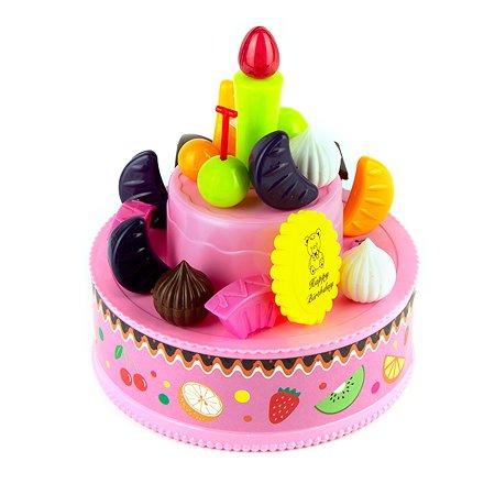 Конструктор EstaBella торт Веселый день рождения со звуковым эффектом 19элементов 68347