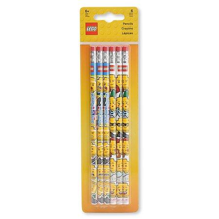 Карандаши чернографитные LEGO Iconic 6шт 51140