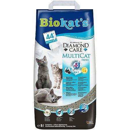 Наполнитель для кошек Biokats Черный бриллиант Мультикэт 8л