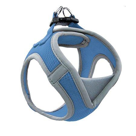Шлейка-жилетка для собак Triol мягкая M Синий