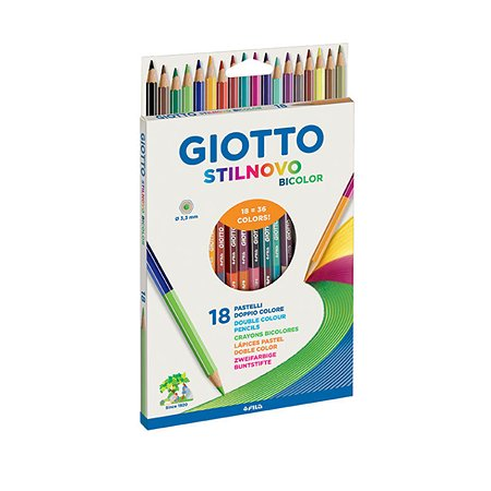 Карандаши цветные GIOTTO Stilnovo Bicolor 2сторонние 36цветов 257200