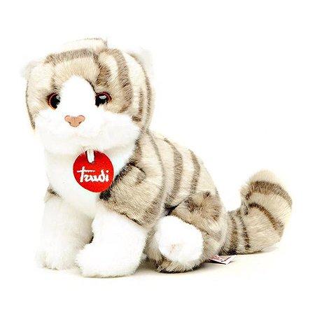 Котёнок Брэд Trudi серо-белый 24 см