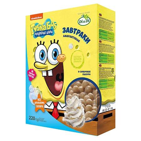 Завтраки Sponge Bob амарантовые в сливочной глазури 220г