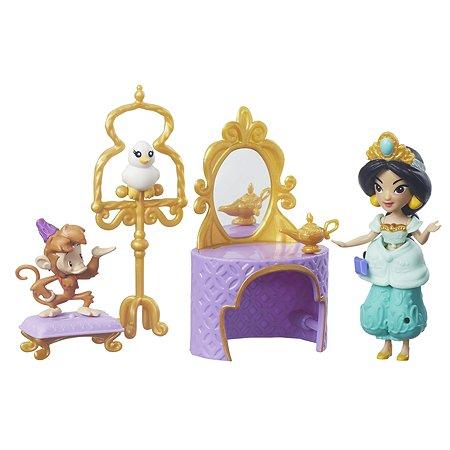 Игровой набор Princess маленькая кукла Принцесса и туалетный столик Жасмин B7164EU40