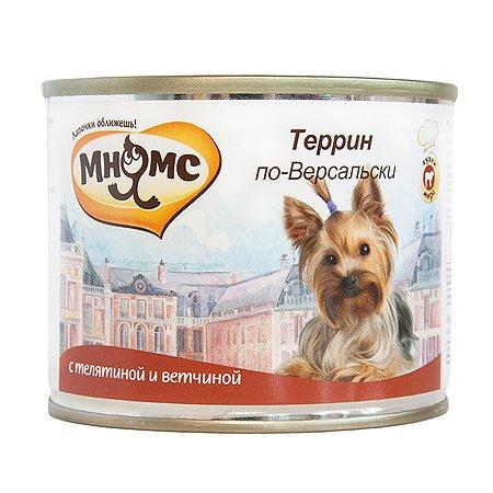 Корм для собак Мнямс Террин по-Версальски телятина с ветчиной консервированный 200г