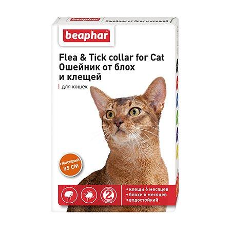 Ошейник для кошек Beaphar Flea and Tick collar от блох и клещей Оранжевый