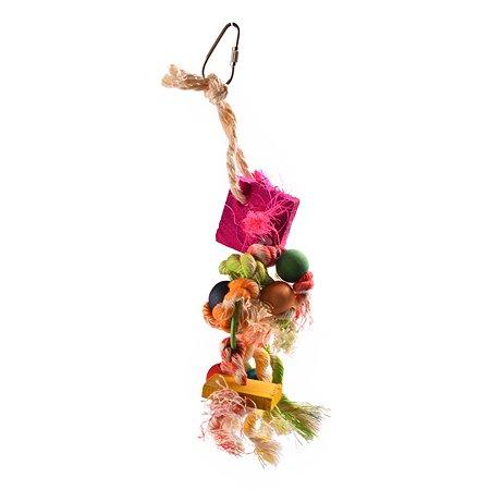 Игрушка для птиц FAUNA Кольцо с веревками на подвесе FIBT-2009