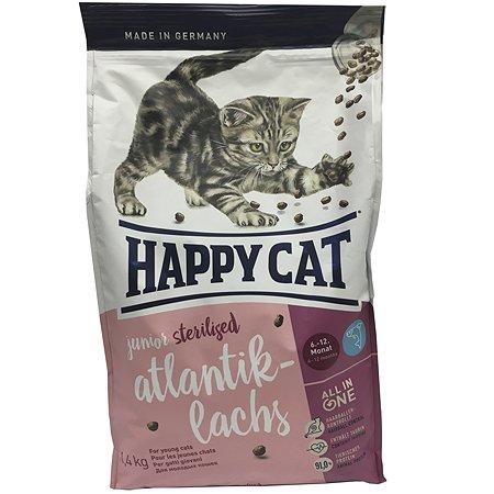 Корм сухой для котят Happy Cat 1.4кг ягненок стерилизованных