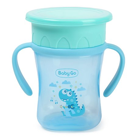 Поильник Baby Go съемные ручки 270мл Blue Z-018