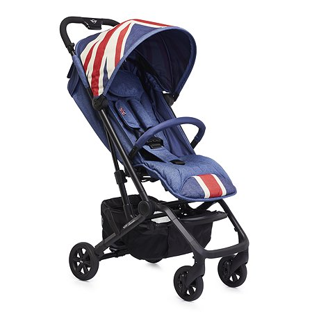 Коляска Easywalker Mini Buggy XS Union Jack Vintage с бампером