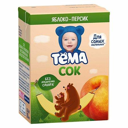 Сок Тёма яблоко-персик 200 мл с 6 месяцев