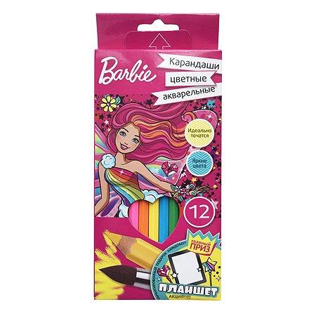 Карандаши акварельные Barbie Barbie 12 цветов 0706269