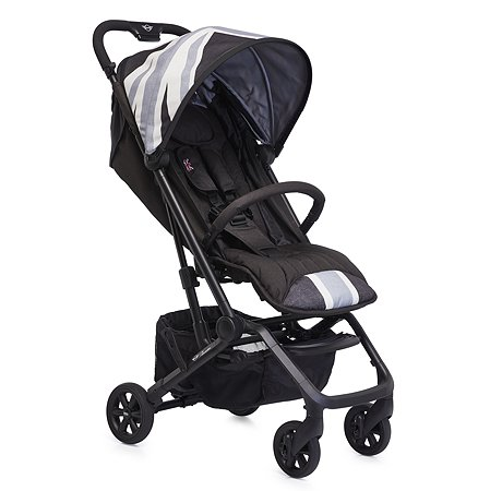 Коляска Easywalker Mini Buggy XS Union Jack Vintage с бампером Black White