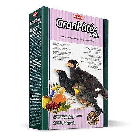 Корм для птиц PADOVAN Granpatee насекомоядных комплескный фруктовый 1кг