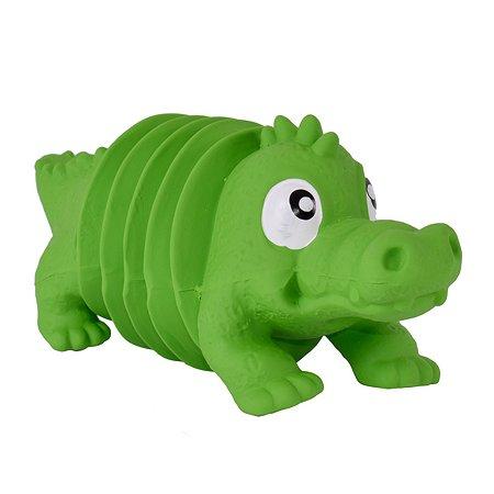 Игрушка для собак Petstages OH Accordionz Крокодил с пищалкой 68093